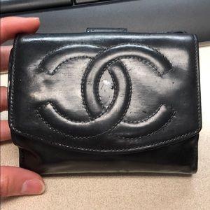Authentic Chanel CC Wallet Logo Bifold Wallet